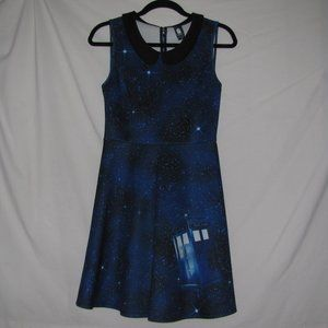 Doctor Who Galaxy With TARDIS Dress Size Small S